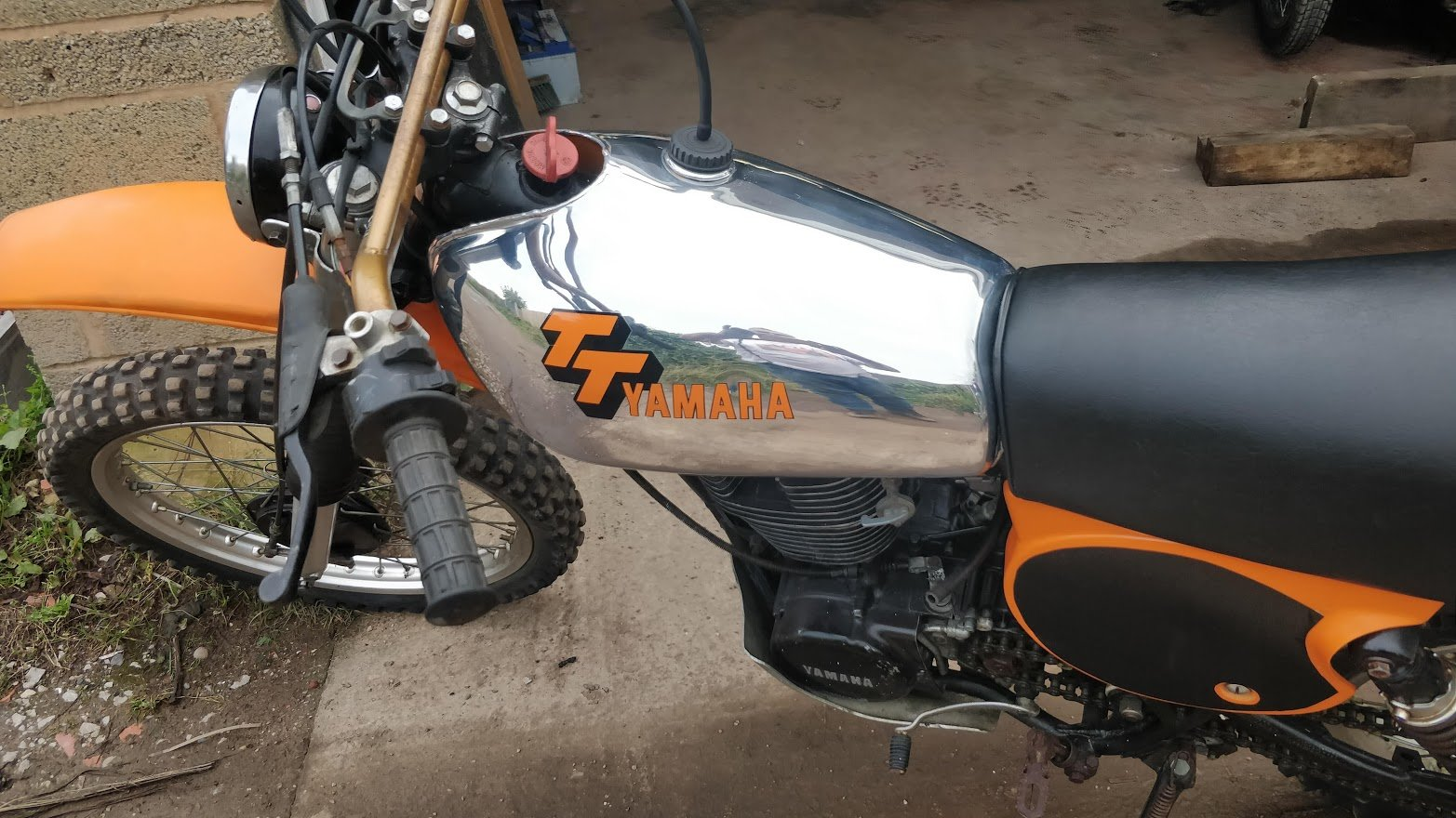 1977 Rare Yamaha TT500 (like XT500) with road lights For Sale (picture 4 of 6)