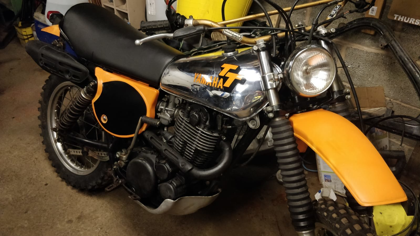 1977 Rare Yamaha TT500 (like XT500) with road lights For Sale (picture 6 of 6)