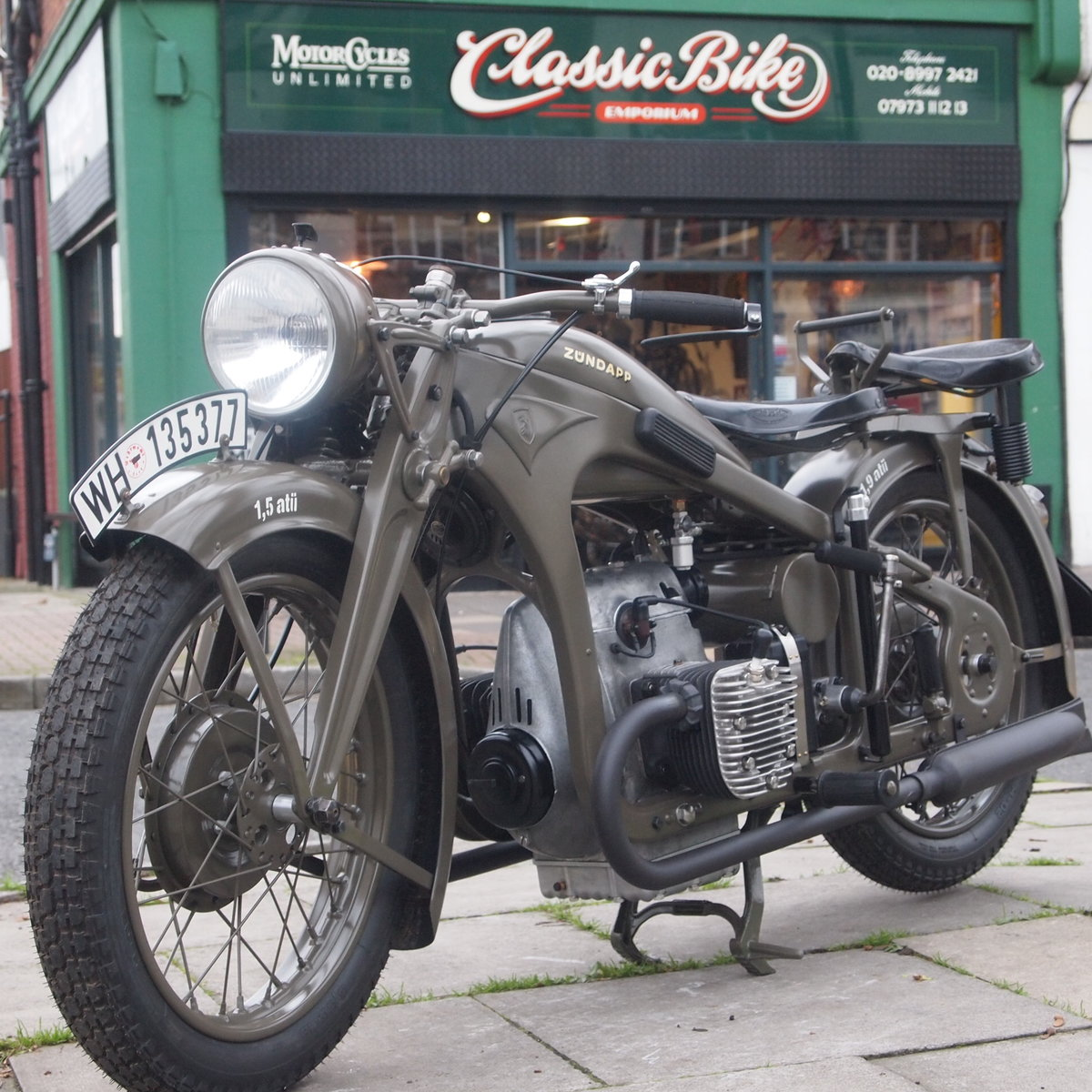 1936 Zundapp K500 Wehrmacht WW11, Fully Restored, Beautiful. For Sale (picture 1 of 6)