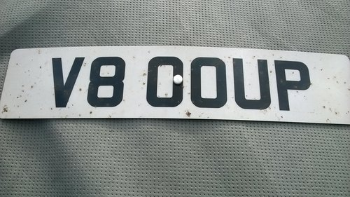 Personal Cherished No. Plate  V80 OUP (V8 COUP) on retention For Sale (picture 2 of 6)