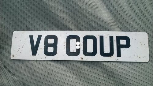 Personal Cherished No. Plate  V80 OUP (V8 COUP) on retention For Sale (picture 4 of 6)