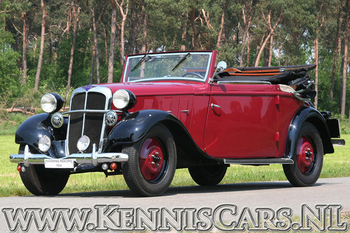 Hanomag 1934 Rekord Ambi Budd Convertible For Sale (picture 1 of 6)