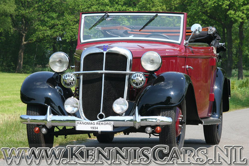 Hanomag 1934 Rekord Ambi Budd Convertible For Sale (picture 2 of 6)