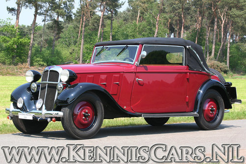 Hanomag 1934 Rekord Ambi Budd Convertible For Sale (picture 4 of 6)