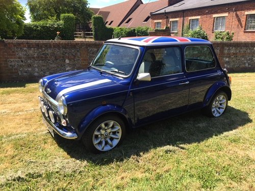 2000 Rover Mini Cooper Sport 2,300 miles only in Tahiti blue For Sale (picture 1 of 6)