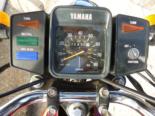1989 Yamaha YB100 Deluxe *ONLY 2,430 MILES* 2-Stroke Classic For Sale (picture 5 of 6)