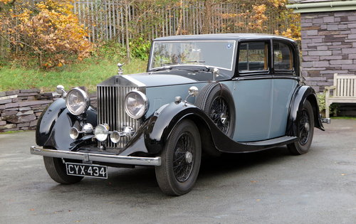 1936 Rolls-Royce 25/30 H.J. Mulliner Sports Saloon GTL68 For Sale (picture 1 of 6)