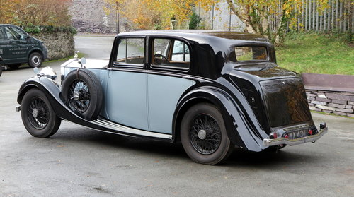 1936 Rolls-Royce 25/30 H.J. Mulliner Sports Saloon GTL68 For Sale (picture 2 of 6)