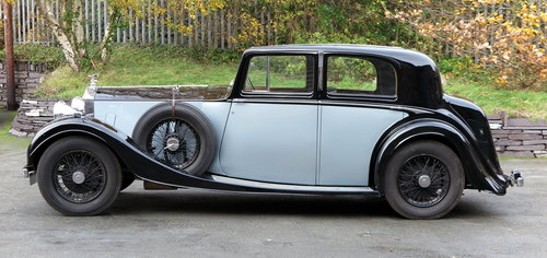1936 Rolls-Royce 25/30 H.J. Mulliner Sports Saloon GTL68 For Sale (picture 3 of 6)