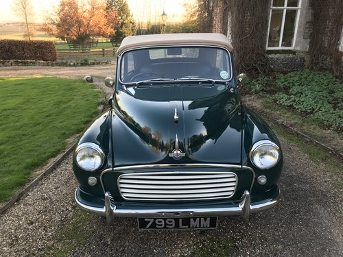 1957 Morris Minor Convertible For Sale (picture 1 of 6)