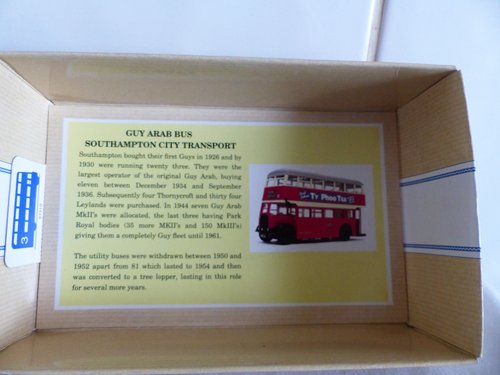 GUY ARAB BUS-SOUTHAMPTON CITY TRANSPORT 1:50 For Sale (picture 3 of 6)