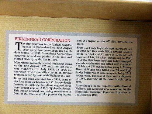 GUY ARAB BUS-BIRKENHEAD CORPORATION TRANSPORT For Sale (picture 5 of 6)