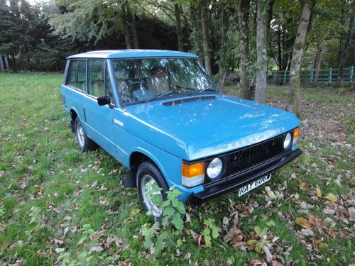 1980 RANGE ROVER 2 DOOR VERY SMART NEW GEARBOX 62,000 MILES For Sale (picture 1 of 6)