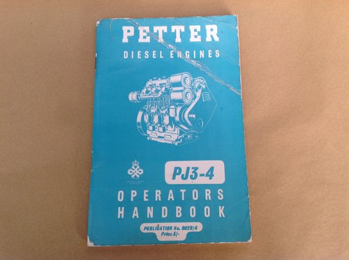 Petter PJ3-4 Handbook For Sale (picture 1 of 2)