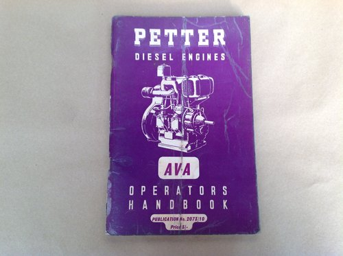 Petter AVA Handbook For Sale (picture 1 of 1)