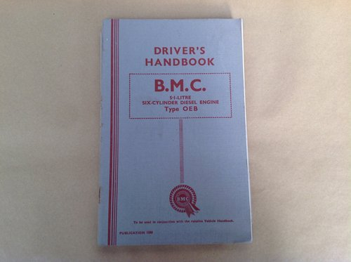 BMC 5.1 Litre OEB Diesel Engine Handbook For Sale (picture 1 of 2)
