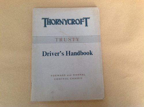 Thornycroft Trusty Drivers Handbook For Sale (picture 1 of 2)