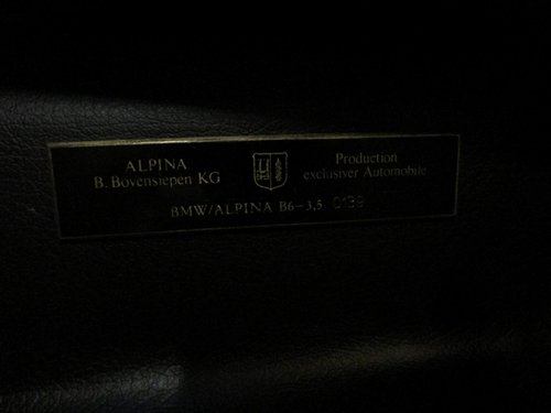 1989 Alpina B6 3,5 Kat. 2-door - E30 - nr. 139 of 219 For Sale (picture 6 of 6)