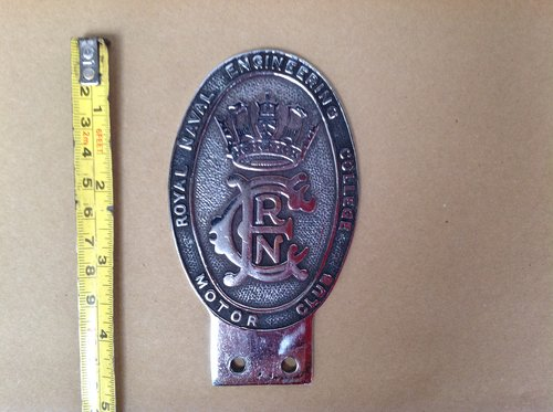 Royal Naval Engineering College Motor Club Badge For Sale (picture 1 of 2)