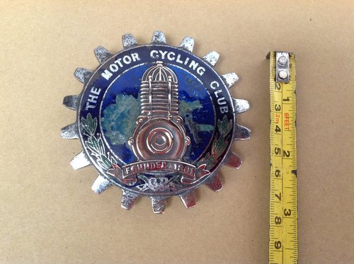 The Motorcycling Club 1901 Badge  For Sale (picture 1 of 2)
