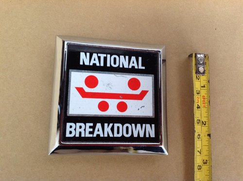 National Breakdown Period Badge  For Sale (picture 1 of 2)