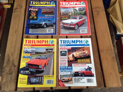 2020 Triumph World Magazine Numbers 1 to 4  Printed 1995 SOLD (picture 1 of 1)