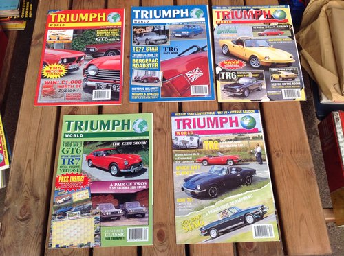 Triumph World Magazine Numbers 11 13 14 22 & 23 For Sale (picture 1 of 1)