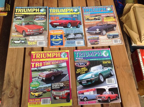 Triumph World Magazine Numbers 15 17 18 19 & 20 For Sale (picture 1 of 1)