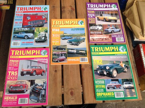 Triumph World Magazine Numbers 5 6 8 9 &10 - Printed 1995/96 For Sale (picture 1 of 1)