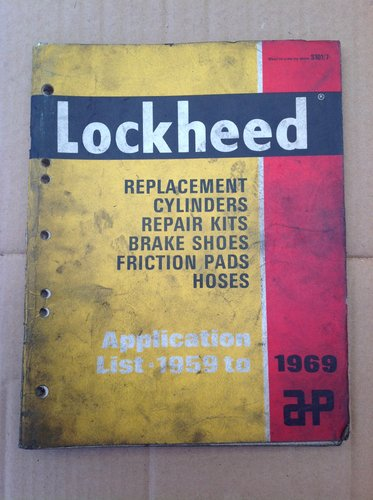 Lockheed Brake Parts Book 1959 - 69  Cars & Commercial For Sale (picture 1 of 3)