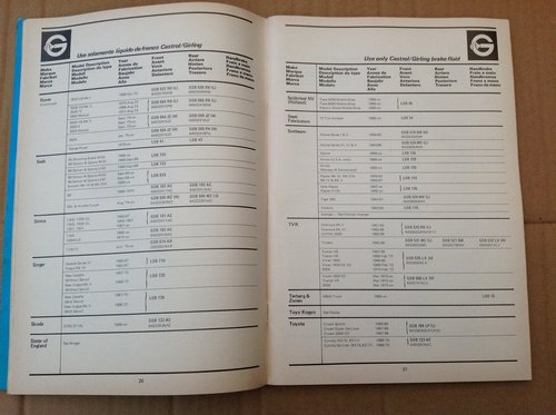 Girling Brake Pads Book 1960 On G290/5 with Diagrams  For Sale (picture 2 of 3)