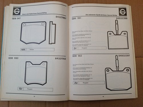 Girling Brake Pads Book 1960 On G290/5 with Diagrams  For Sale (picture 3 of 3)
