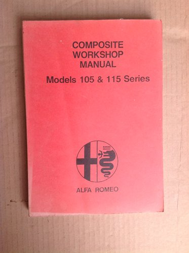 Alfa Romeo 105 & 115 Series Workshop Manual  For Sale (picture 1 of 2)