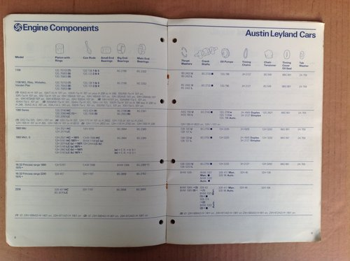 Leyland Engine Components Catalogue 1978 MMM 1211 For Sale (picture 2 of 2)