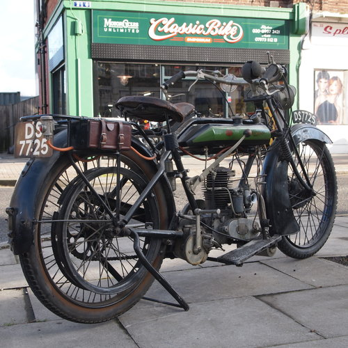 1923 Connaught De Luxe Solo 347cc With 3 Speed Hand Gears. For Sale (picture 1 of 6)