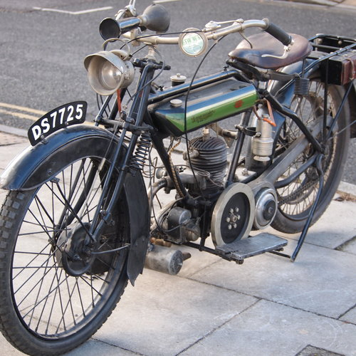 1923 Connaught De Luxe Solo 347cc With 3 Speed Hand Gears. For Sale (picture 2 of 6)