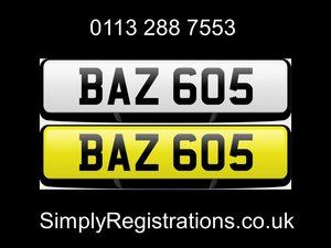 BAZ 605 - Private number plate SOLD
