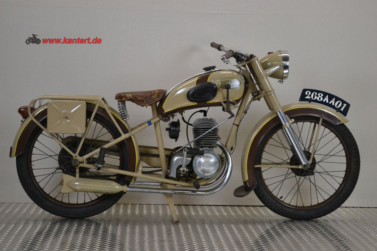 1950 Radior 125 cc, 7 hp, 2 stroke, 1 zyl For Sale (picture 1 of 6)