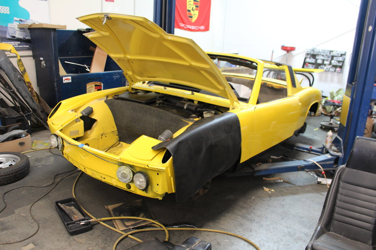 1970 Porsche 914-6, Canary Yellow, restored, drives great! For Sale (picture 4 of 6)