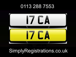 17 CA - Private number plate