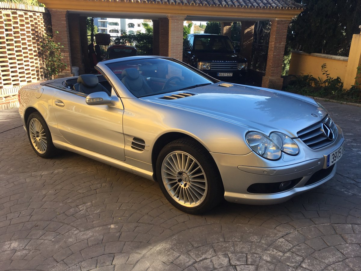 2003 LHD Mercedes Benz SL 500 In Spain  For Sale (picture 1 of 6)