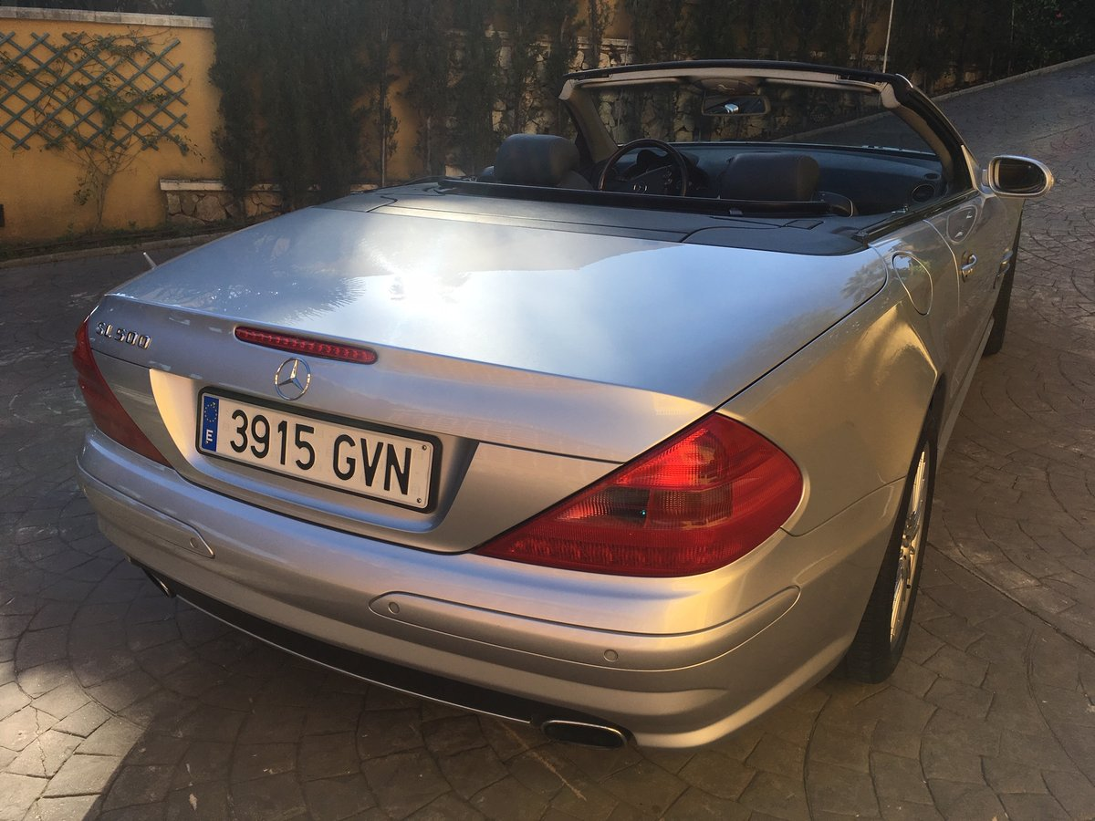 2003 LHD Mercedes Benz SL 500 In Spain  For Sale (picture 4 of 6)