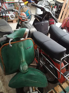 1988 Vespa collection and bajaj