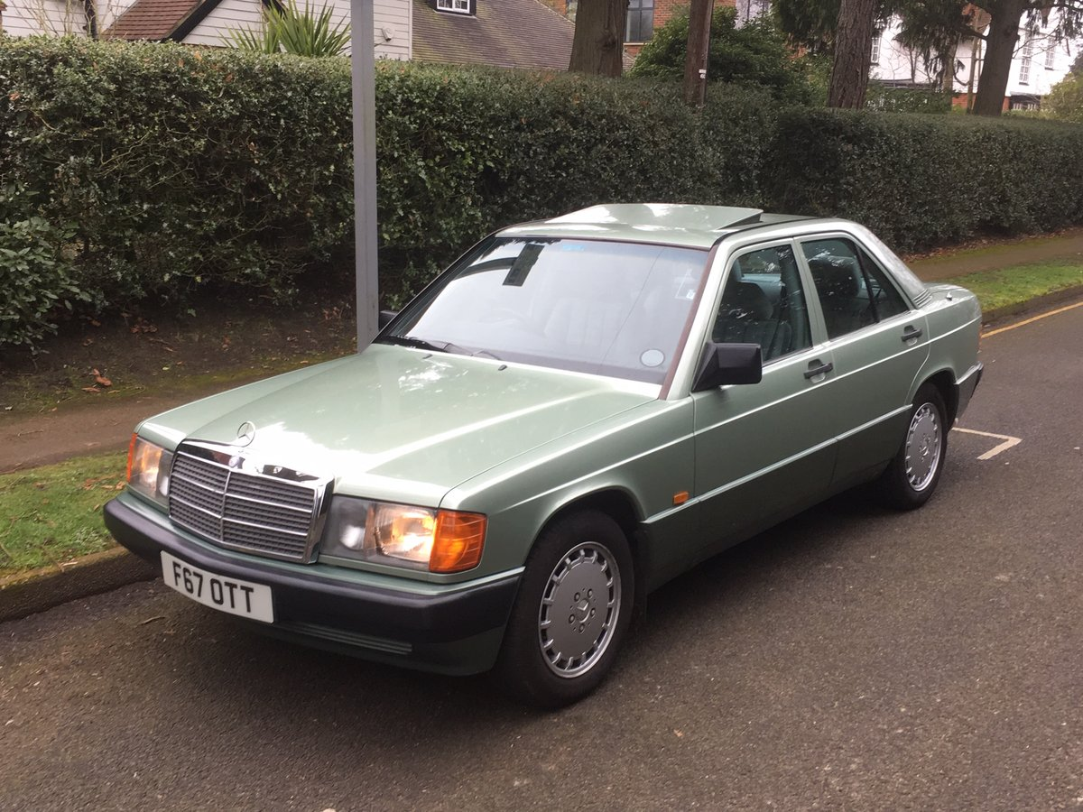 1989 Mercedes Benz 190e Automatic Immaculate FSH 2.0e SOLD (picture 1 of 6)