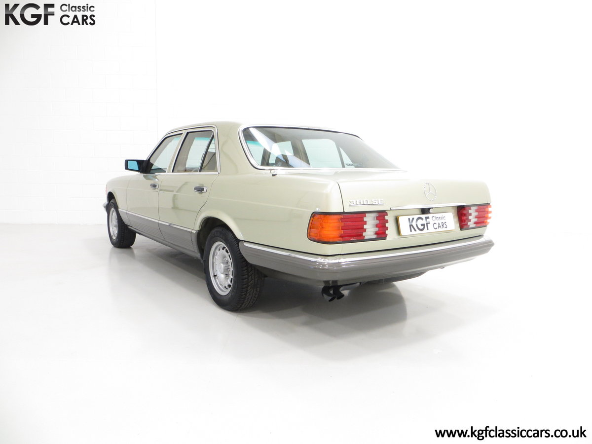 1982 Mercedes-Benz W126 380SE, Just 29,513 Miles and Full History For Sale (picture 4 of 6)