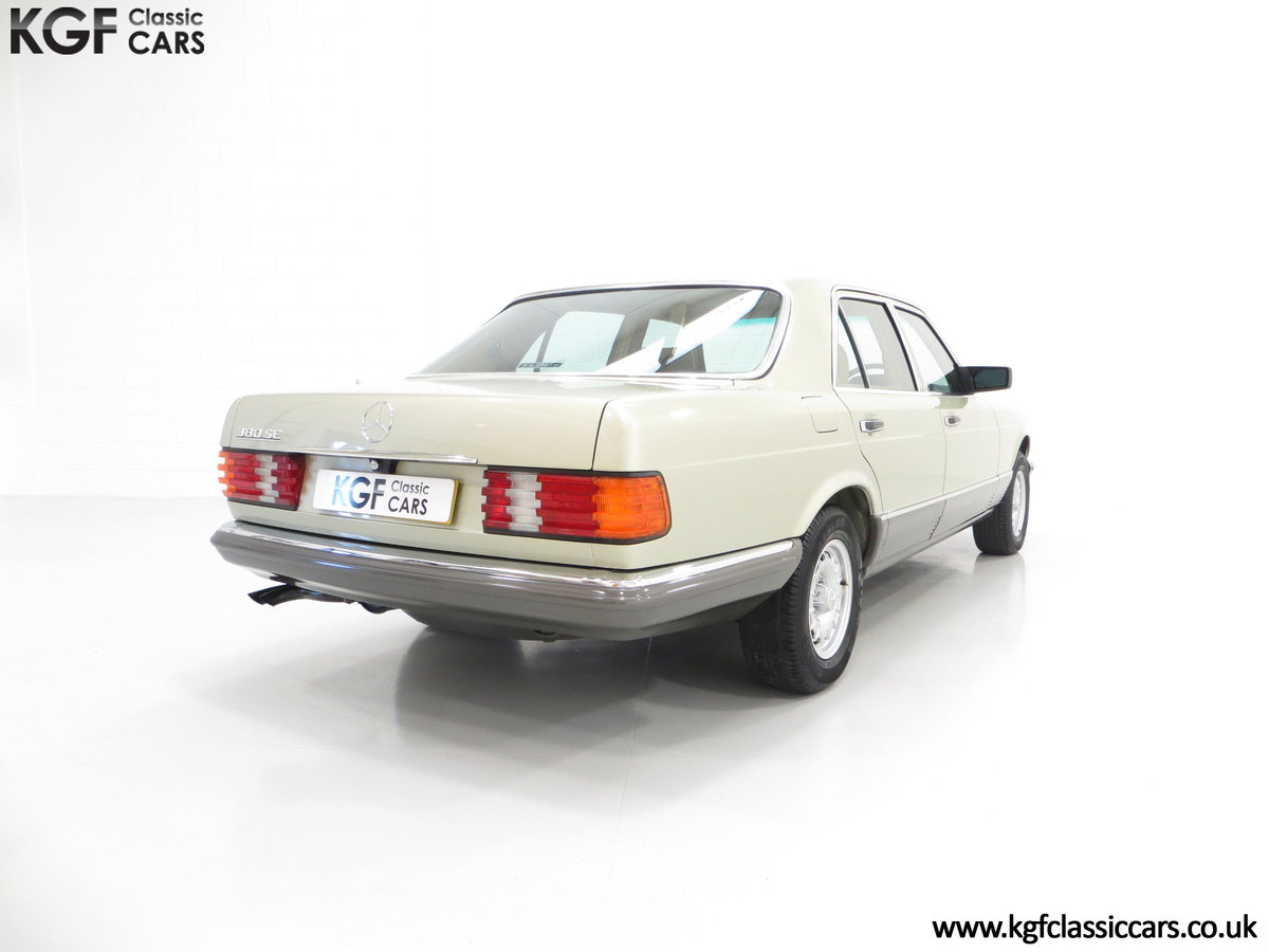 1982 Mercedes-Benz W126 380SE, Just 29,513 Miles and Full History For Sale (picture 5 of 6)