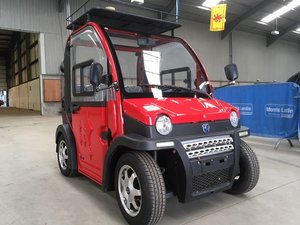 2015 ZAP Jonway Urbee Electric Car at Morris Leslie Auction SOLD by Auction