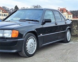 1987 mercedes benz 190E2.3 16V, a famous book writer is 2.owner SOLD