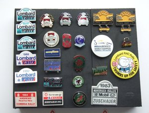 Collection of Rally and British Grand Prix badges For Sale