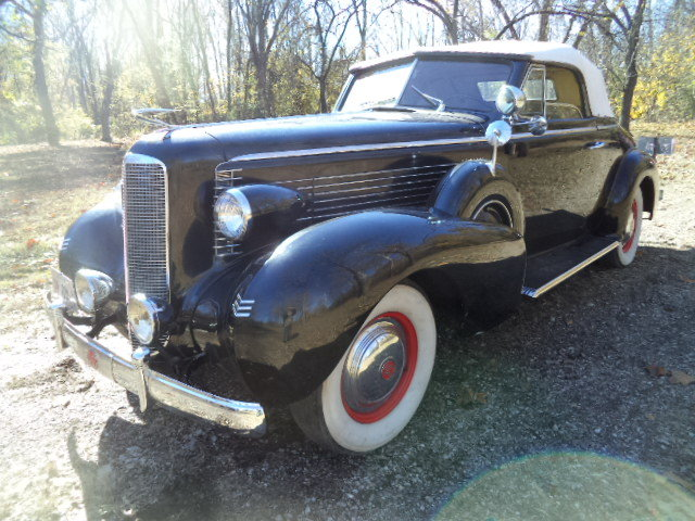 1937 LaSalle Dual Sidemount/Rumble Seat Convertible For Sale (picture 1 of 6)